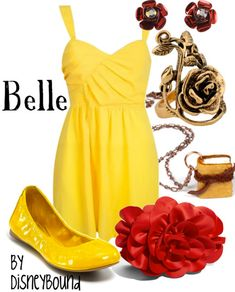 Belle outfit by Disneybound! Disney Mode, Disney Belle, Disney Princess, Disney Fun, Disney Stuff, Disney Pixar, Disneybound Outfits, Belle Disneybound, Belle Outfit