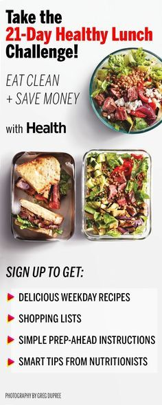 Sign up now for Health's 21-Day Healthy Lunch Challenge and get access to delicious weekday recipes, streamlined shopping lists, and more. | Health.com