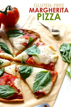 Got 20 minutes? Make this delicious and flavorful gluten free margherita pizza with just a few ingredients for a yummy weeknight dinner!