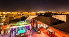 Terraço, bem comum nos Riads do Marrocos.