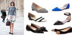 Planos y puntudos- Para alargar la figura estos zapatos son lo mejor, van con todo y son un elemento moderno y elegante.