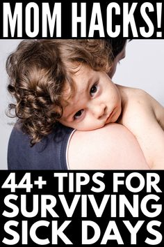 44+ Sick Day Hacks for Moms   If you aren't sure what to do when your kids are sick, we're sharing our best immune system boosters, home remedies for fever, congestion, sore throats and ear infections tips on how to get rid of sicknesses faster, 7 genius sanity savers for moms, and 45 sick day activities to fight boredom! Sick Kids, Cool Kids, Home Remedies For Fever, Sick Day, Immune System Boosters, Getting Back In Shape, Boredom Busters, Mom Hacks, Single Parenting