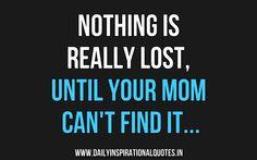 It's lost..