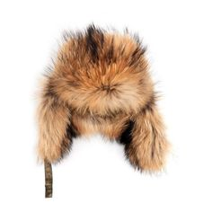 Yves Salomon Raccoon-fur trimmed hat (£245) ❤ liked on Polyvore featuring accessories, hats, tan, fur hat, trapper hat, tan hat, fur trapper hat and strap hats