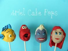 disney princess cake pops - The Little Mermaid Mermaid Cake Pops, Little Mermaid Cakes, Little Mermaid Birthday, Little Mermaid Parties, The Little Mermaid, Kylie Birthday, Birthday Ideas, 5th Birthday, Birthday Cake