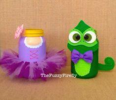 Handmade Rapunzal OR Pascal,Tangled Inspired Centerpiece,Princess Party Favor,Rapunzel Centerpiece,Princess Tutu by TheFuzzyFirefly on Etsy https://www.etsy.com/listing/276316508/handmade-rapunzal-or-pascaltangled