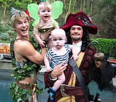 Neil Patrick Harris Neil and the family posed in Peter Pan costumes to celebrate Halloween.