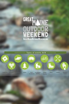 Have you heard of the Great Maine Outdoor Weekend? Whether you're looking to have fun outdoors, or running an organization that gets people outside, come see what it's all about, and what we've accomplished! #GMOW #Maine #GetOutside