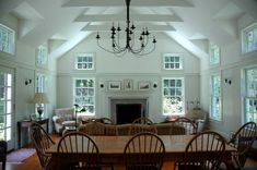 The new spaces were designed in the New England farmhouse style. Description from denconstruction.com. I searched for this on bing.com/images