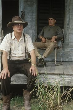 Still of Michael Caine and Robert Duvall in Secondhand Lions - Love this movie.