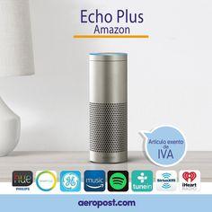 La mejor manera de tener un hogar inteligente.  Echo Plus se conecta a Alexa, un servicio de voz basado en la nube, para reproducir música, hacer llamadas, programar temporizadores y alarmas, hacer preguntas, controlar el tráfico y el clima, y más, al instante.  ¡Y SI NO TE GUSTA, LO DEVUELVES!  #compras #ofertas #echoplus #shopping #alexa #amazon #colombia #tiendaonline #music #shoppingonline Amazon Echo, Shopping, Cloud, Tents