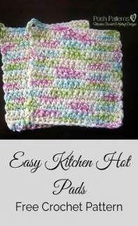 Crochet Potholder Patterns, Crochet Dishcloths, Knitting Patterns, Sewing Patterns, Apron Patterns, Crochet Mittens, Knitting Designs, Dress Patterns, Crochet Simple