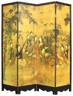 A visitor to this board: a Chinese screen Japanese Screen, Japanese Art, Room Divider Screen, Room Dividers, Floor Screen, Dressing Screen, Decorative Screens, Oriental Furniture, Asian Decor