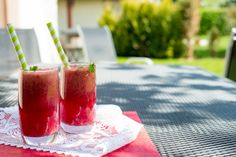 letny osviezujuci drink pre deti - My site Mojito, Watermelon, Med, Panna Cotta, Yummy Food, Fruit, Drinks, Ethnic Recipes, Smoothie