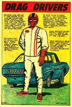 Drag Drivers comic book illustration.