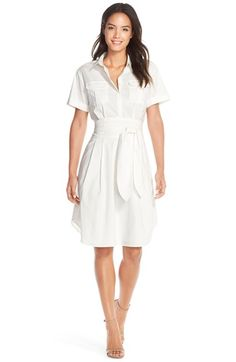 Cynthia Steffe 'Maya' Tie Waist Fit & Flare Shirtdress (Nordstrom Exclusive) available at #Nordstrom