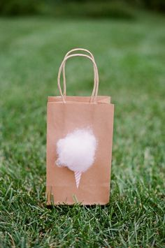 Birthday Gift Bags // Cotton Candy DIY .
