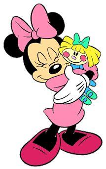 Minnie com boneca