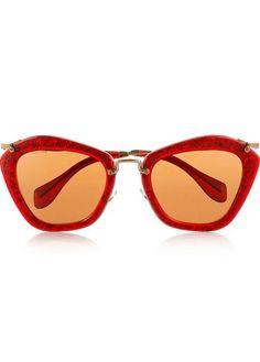fa097eb7cb9 Miu Miu glitter cat-eye sunglasses