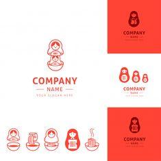 Collection Of Funny Kitchen Logos Inspired By Matrioshka Dolls Graphisches Design, Japan Design, Corporate Design, Business Design, Typo Logo, Logo Branding, Kitchen Logo, Funny Kitchen, Dessert Logo