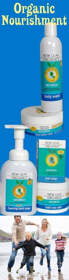 Organic Nourishment for your skin! Certified by OASIS, enjoy a Nourishing Body Wash, Shea Butter Cream, Foaming Hand Soap, Bath Sea Salts, and Bar Soap!