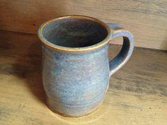 Rutile Blue Wheel Thrown Mug