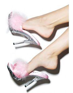 Sasha Maribou Babe Clear Heels | Dolls Kill