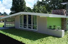 Miniature Mid-Century Modern House | Flickr - Photo Sharing! [Love the patterned concrete in the carport.]