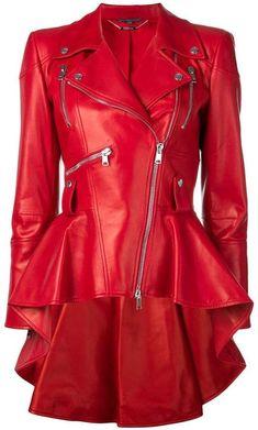 Alexander McQueen peplum biker jacket Scarlet Witch