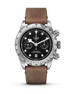 Tudor Black Bay Chronograph - leather strap - soldier