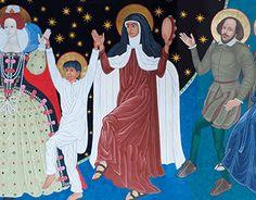 Teresa, entre los santos que siguen al Señor de la Danza