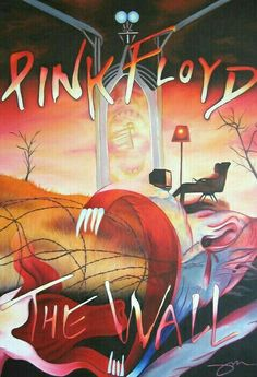 Pink Floyd Peinture - Pink Floyd The Wall de Joshua Morton Rock Posters, Band Posters, Concert Posters, Music Posters, Retro Posters, Pink Floyd Artwork, Pink Floyd Poster, Pop Rock, Rock N Roll