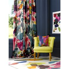 Big Archie Linen from Bluebellgray.com. A Scottish textile design company.---for dining chairs/piano bench