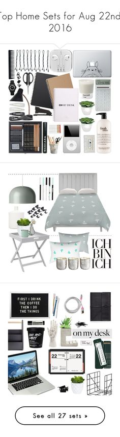 """""""Top Home Sets for Aug 22nd, 2016"""" by polyvore ❤ liked on Polyvore featuring interior, interiors, interior design, home, home decor, interior decorating, H&M, Forever 21, Muji and Humör"""