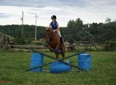You only need to set up three fences for this helpful show jumping exercise... Perfect for indoor arenas!