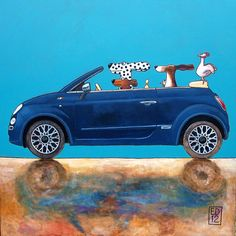 177 NEW CINQUECENTO   signed and numbered print  Dogs and by edart,