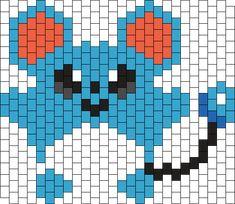 Blue Charm, Kandi Patterns, Photo Pattern, Crumpets, Kawaii Cute, Different Patterns, Pokemon, Kitty, Charmed