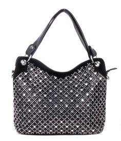Diamond Black Rhinestone Fashion Handbag #bling #purse #accessories #boutique #trendy #trends #style #inspired #designer #boutiques #bolsa
