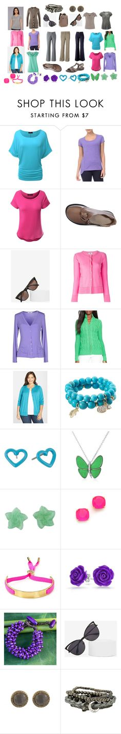 #Base_women_warrobe_capsule_spring_colortype Blue, pink, green, violet, gray, sand set by theinterference on Polyvore featuring мода, Halogen, Danskin, LIU•JO, Sonia by Sonia Rykiel, Doublju, Ralph Lauren, Karen Kane, Kate Spade and Bling Jewelry