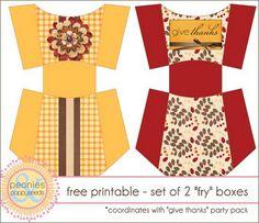 """FREE Printable - Autumn """"Fry"""" boxes"""