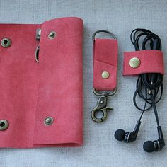 coral leather set