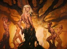 Vale Maidens (Nymphs, Dryads & Hamadryads) by Lucas Graciano