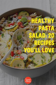 Packed with fresh produce and seasonal flavors, these healthy pasta salad recipes are a delicious addition to your menu. Healthy Pasta Salad, Healthy Pastas, Pasta Salad Recipes, Healthy Recipes, Potluck Salad, Macaroni Salad, Potluck Recipes, Cucumber Salad, Coleslaw