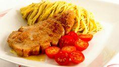MatPrat - Svinekoteletter med pestospagetti