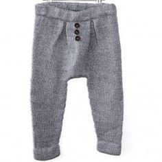 Vintage Classic - Baggy Buks fra Go Handmade Baby Hats Knitting, Baby Knitting Patterns, Amanda Hess, Moss Stitch, Jumpsuit Pattern, Baby Sandals, Baby Pants, Crochet Baby Booties, Bindi