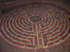 backyard labyrinth - plenty of this material to use! Prayer Garden, Meditation Garden, Outdoor Ideas, Backyard Ideas, Outdoor Decor, Garden Ideas, Labyrinth Maze, Garden Hedges, Labrynth