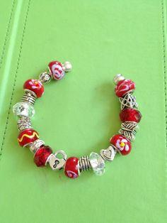 Red Pandora Bracelet by joytoyou41 on Etsy, $35.00