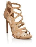 Jessica Simpson Suede Caged Heels