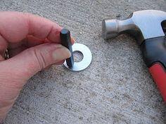 Hand stamping metal