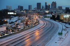 Incredible Images Of Atlanta Essentially Shutting Down After 2 Inches Of Snow